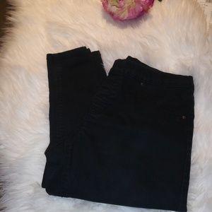 H&M Pull On Black Denim Jeans Skinny